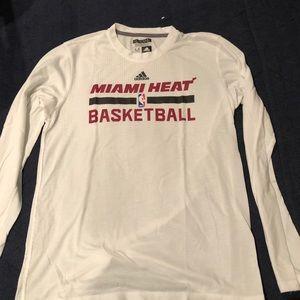 Men's Adidas Miami Heat long sleeve t-shirt